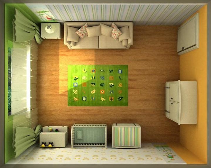 Планировка детских комнат в картинках